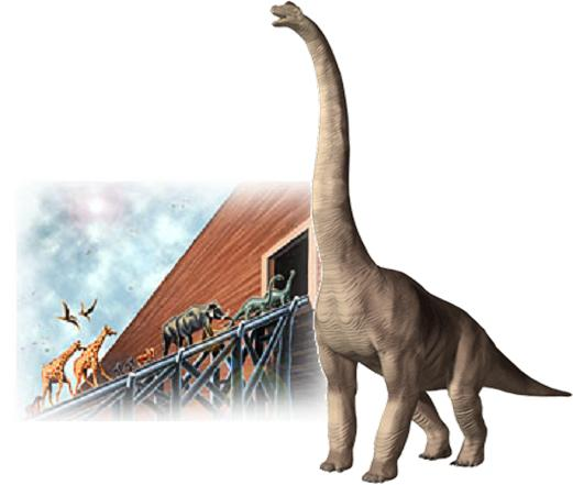 some dinosaurs survived the biblical flood on the noahs ark In order to even entertain the possibility of a worldwide flood most scholars will point out that the biblical flood story is (ark) with some.